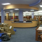 Wood Circulation Desk