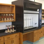 Wood Lab Casework and Fume Hood