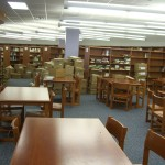 Wood Library Tables and Seating