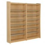 Metal Shelving with Wood End Panels and Back
