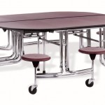 Oval Cafeteria Table